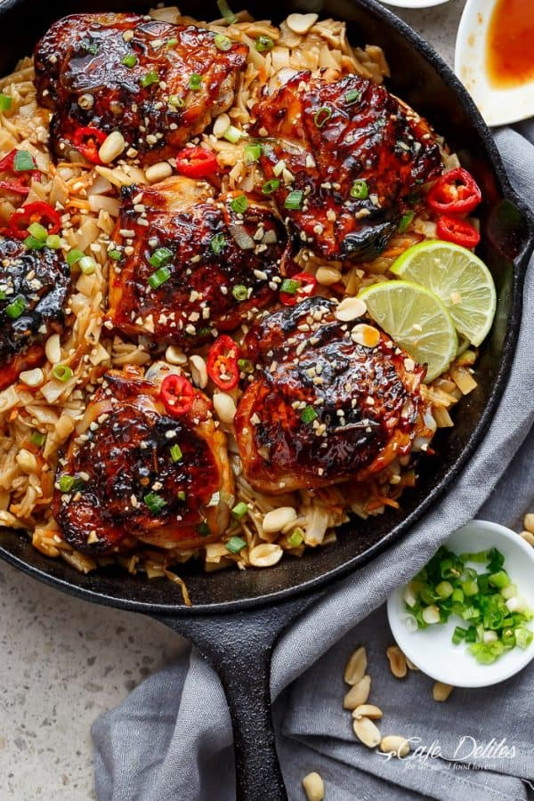 one-skillet-thai-chicken-thighs-with-noodles-cafe-delites