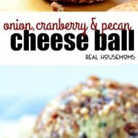 Onion, Cranberry & Pecan Cheese Ball is an easy to make recipe that tastes amazing and has the most beautiful colors!!! Your friends will go nuts for this make-ahead appetizer!