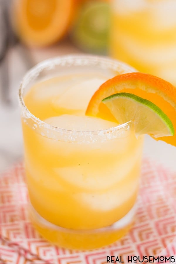 Our refreshing ORANGE VANILLA BEAN MARGARITAS are the perfect mix of sweet and tart flavors!