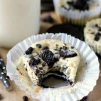 Oreo Mini Cheesecakes are a creamy and delicious dessert that's surprisingly easy to make! How can you go wrong with Oreos and cheesecake in the same bite??