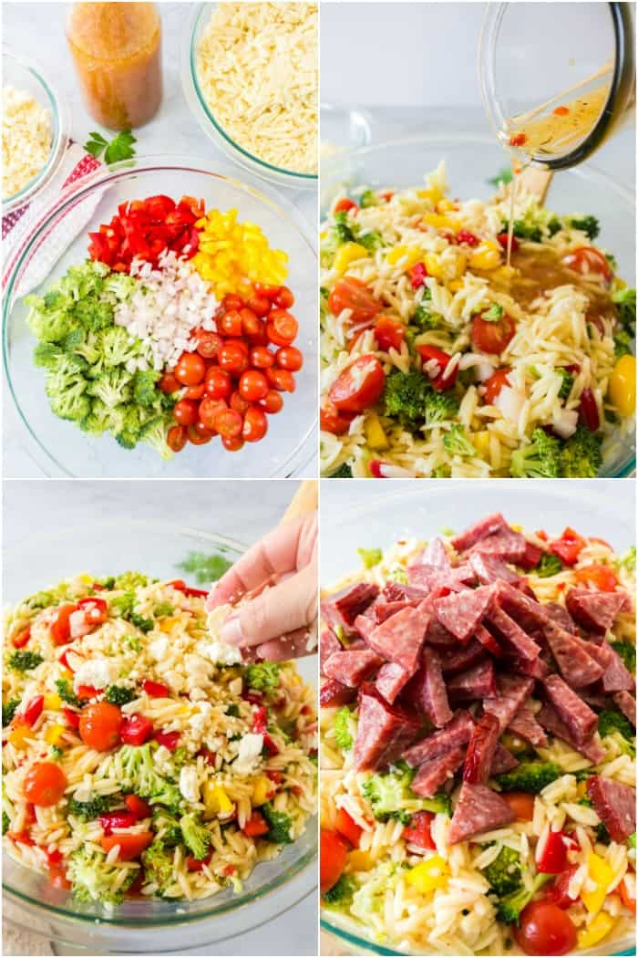 steps to make orzo pasta salad
