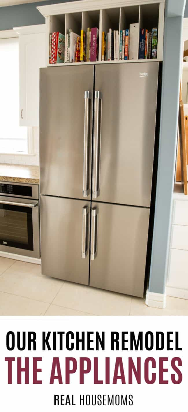 installed Beko French 4-door refrigerator