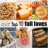 OUR TOP 10 FALL FAVES are recipes that are bursting with pumpkin, apples, sweet potatoes for a bite you can't resist!