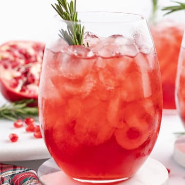 The perfect combination of bubbly champagne and tart pomegranate, this champagne cocktail is my go-to drink for girls nights!