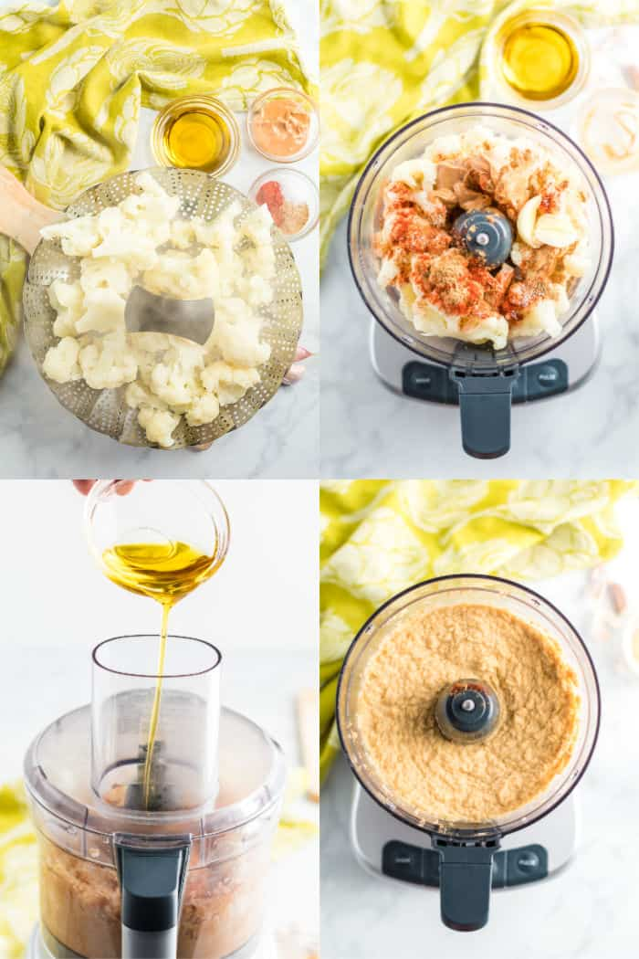steps to make cauliflower hummus