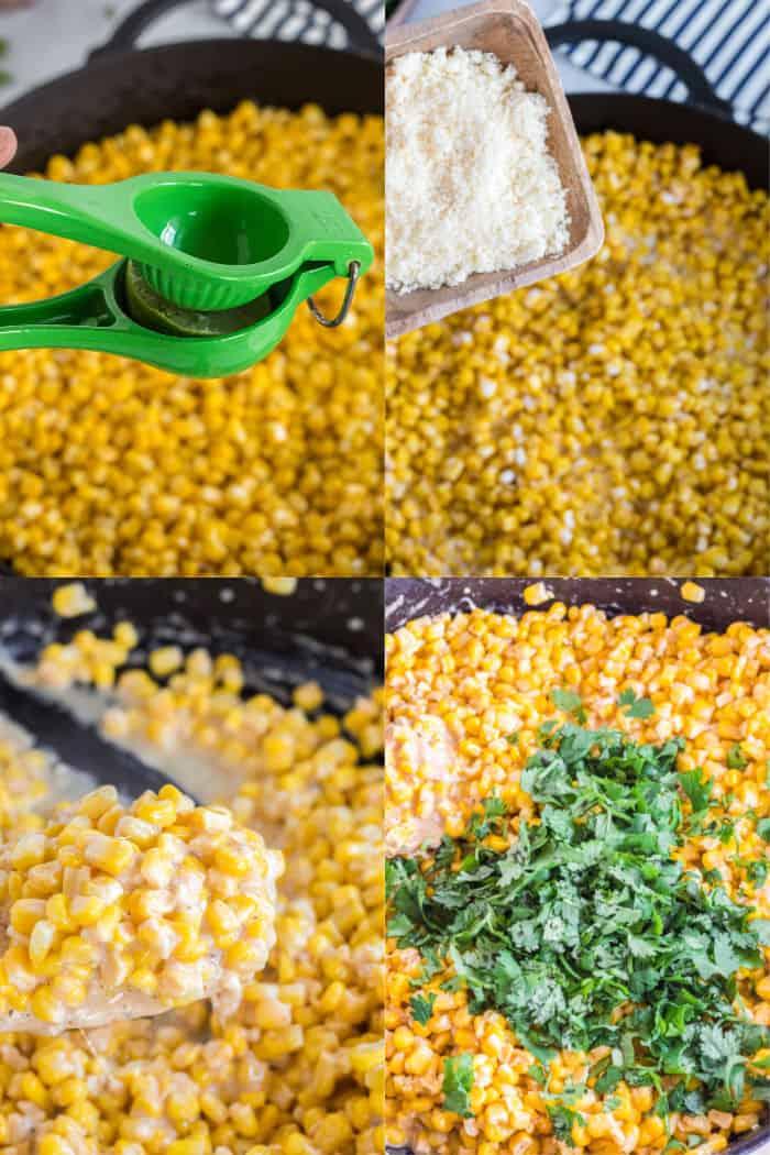 how to make parmesan cilantro corn