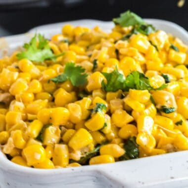 Full of zesty, creamy cheese flavor, this Parmesan Cilantro Corn is the perfect side dish for your favorite meal. Even my kids beg for a second helping!