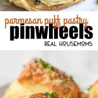 These Parmesan Puff Pastry Pinwheels are an easy appetizer recipe of light and fluffy puff pastry filled with Parmesan, pancetta, and parsley!