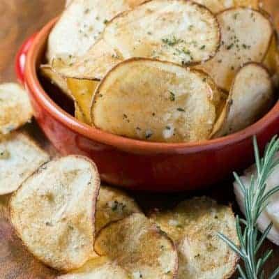 Parmesan Rosemary Potato Chips