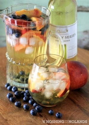 Peach Blueberry White Wine Sangria by Noshing With The Nolands (5) (Custom) (Custom)