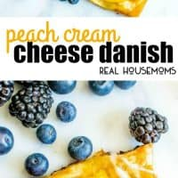 This beautiful Peach Cream Cheese Danish is an easy breakfast recipe that would be perfect for your next brunch!
