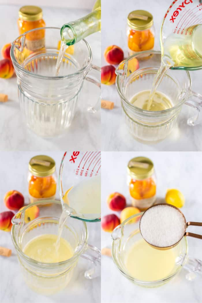 steps to make lemonade sangria