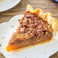 You can't go wrong with this classic Pecan Pie recipe. With a delicious caramel flavor, tons of chopped pecans and a hint of cinnamon - it's the best pecan pie I've ever tried!