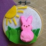 DIY Easter Peep Wall Hanging Craft
