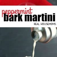 Made with Rum Chata and peppermint schnapps, this Peppermint Bark Martini is the ultimate holiday cocktail perfect for celebrating the season!