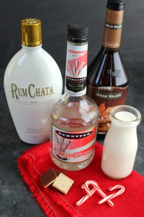 The ultimate peppermint cocktail perfect for celebrating the season! This Peppermint Bark Martini is made with Rum Chata, Creme de Cocoa, and Peppermint Schnapps giving it the perfect creamy texture and fantastic peppermint flavor.