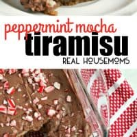 Your favorite holiday coffee drink is transformed into a decadent dessert perfect for sharing in this Peppermint Mocha Tiramisu!