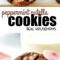 Soft and chewy Peppermint Nutella Cookies bursting with hazelnut chocolate with just the right hint of peppermint in every bite make the ideal holiday cookie that everyone will rave about!