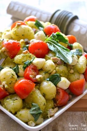Pesto Caprese Gnocchi | Lemon Tree Dwelling