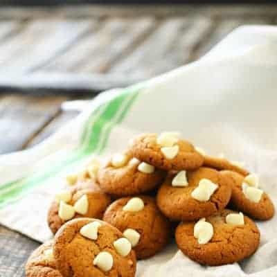 Peanut Butter & White Chocolate Chip Cookies