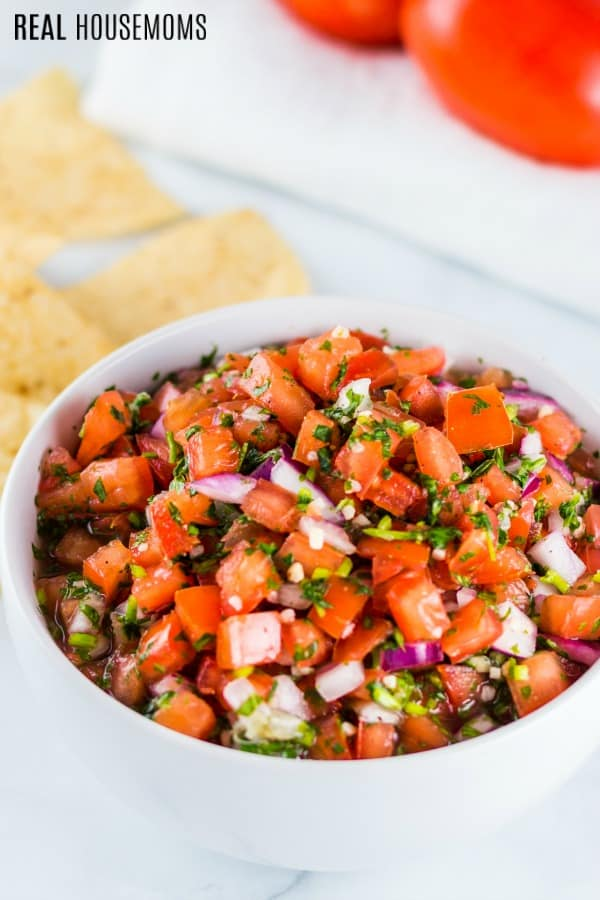 bowl of fresh pico de gallo