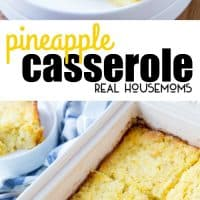 Pineapple Casserole is a delicious side dish and is especially perfect with ham! It is easy to make and is great for the holidays!