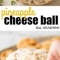 Bring the tropics into your own home with this Pineapple Cheese Ball!!! Bursting with pops of pineapple, coated with coconut and almonds, this is a great crowd please party starter!