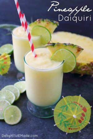 Pineapple Daiquiri recipe-Delightful E Made