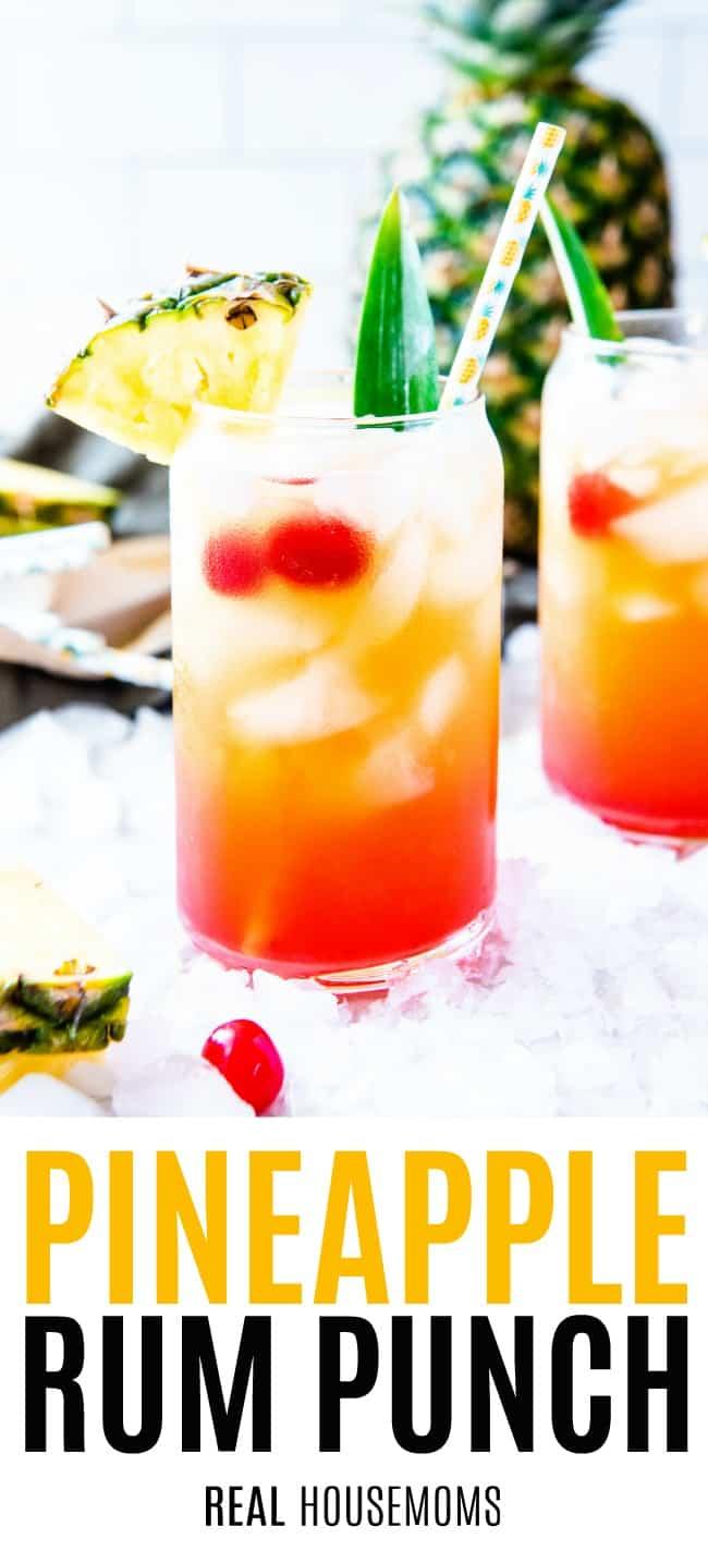 Pineapple Rum Punch Real Housemoms