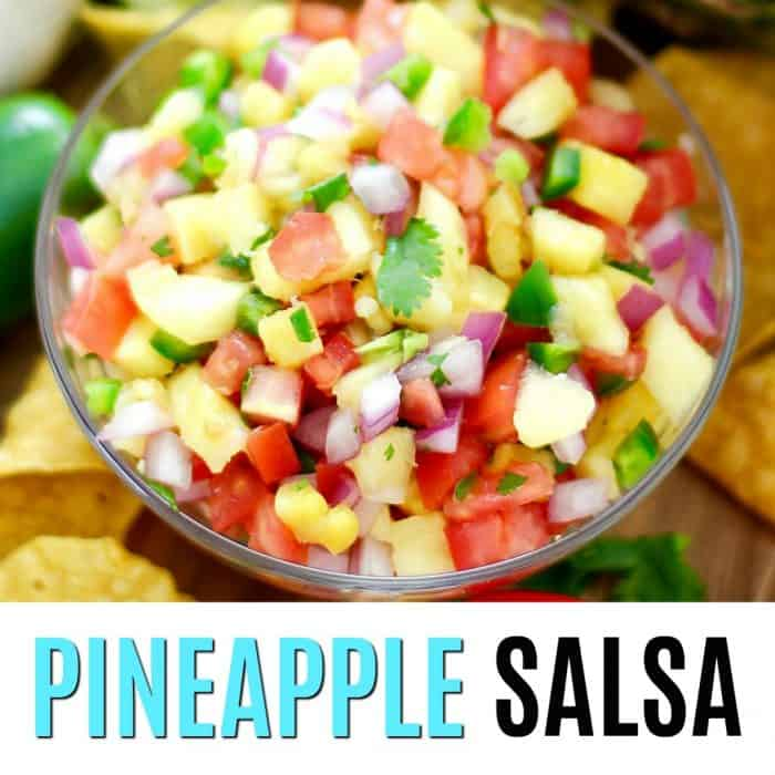 pineapple salsa square image with text