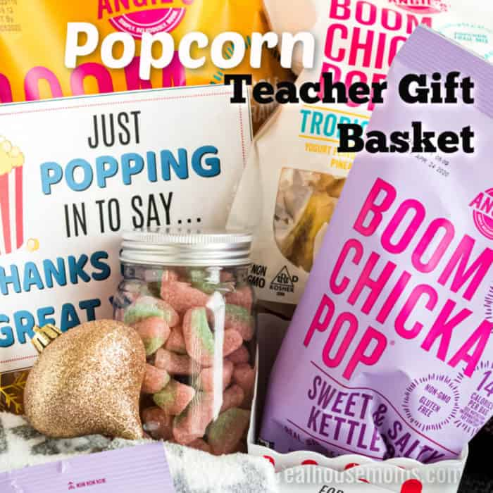 square image of a teachers gift basket