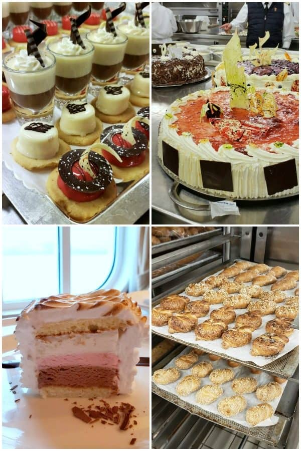 dessert and pastries from Princess Cruises