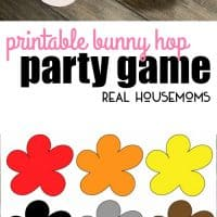 This Printable Bunny Hop Party Game is like an Easter version of a cupcake walk. Kids will love hopping from one bunny tail to another for the chance to win an Easter surprise!
