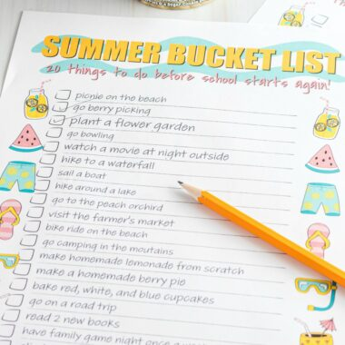 Don't let summer fly by without doing anything exciting. This FREE printable summer bucket list will have you making sweet memories all season long!