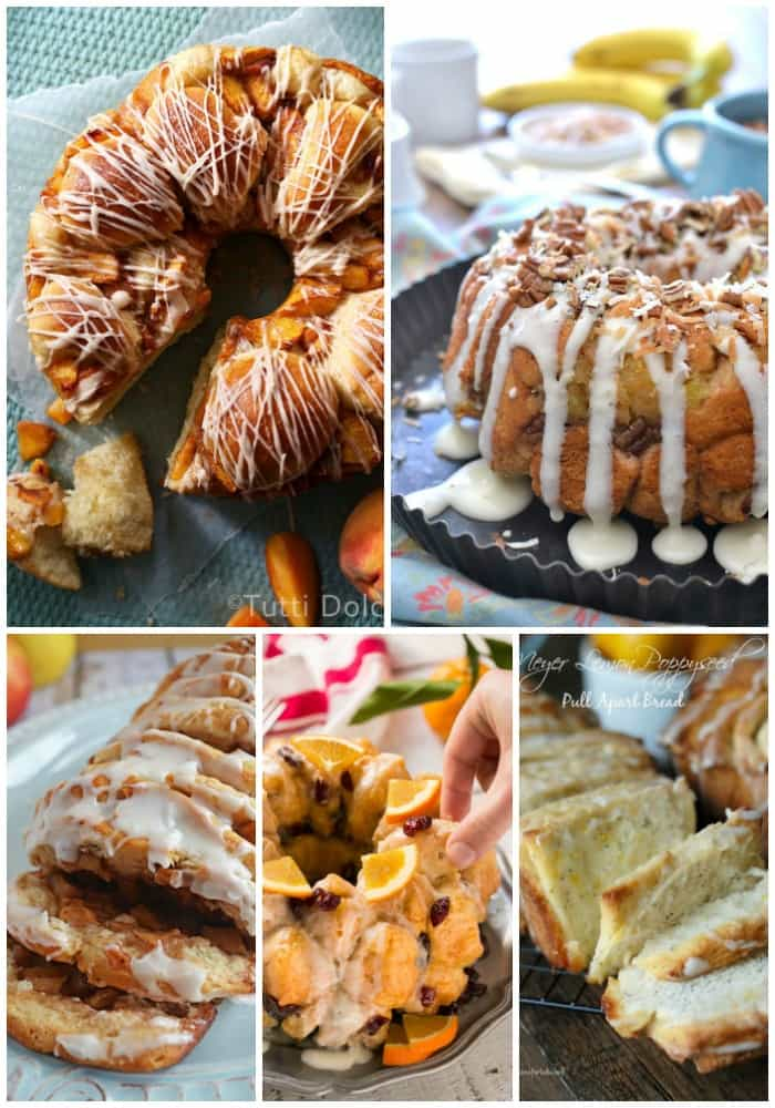 fruity pull apart breads