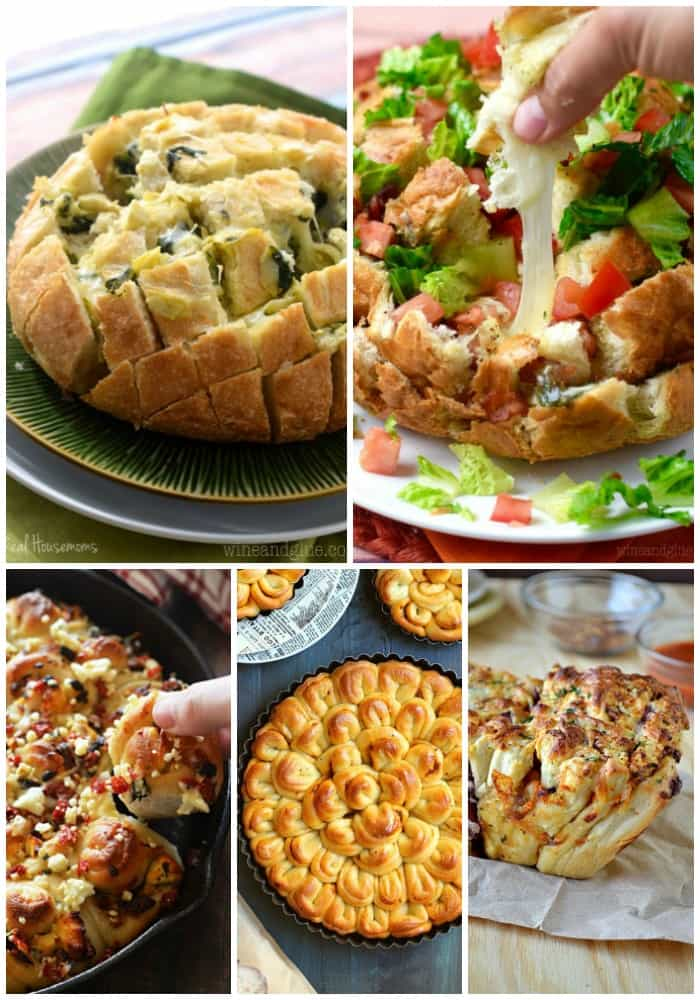 veggies loaded pull apart bread recipes