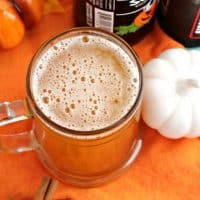 This quick and easy two ingredient Pumpkin Ginger Shandy is the perfect cocktail for fall or Thanksgiving entertaining!