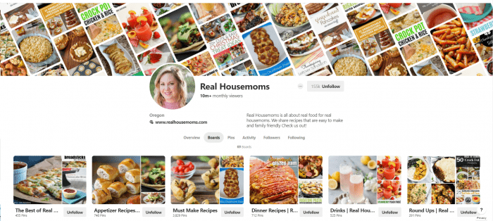 Real Housemoms PInterest Account
