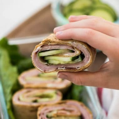 Ranch Ham Roll Ups pull double duty! They can be served up for school lunches or as an appetizer for a party or potluck! This is one simple recipe you'll always make!
