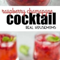 This Raspberry Champagne Cocktail punch is perfect for your holiday celebrations! This cocktail is simple, gorgeous and will impress your friends and family!