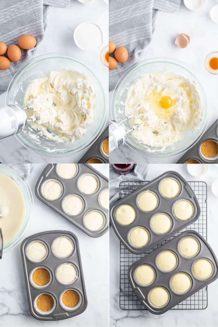 steps to make cheesecake filling for cheesecake bites