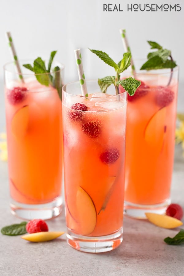 This Peach Raspberry Lemonade is a fresh, bright, and deliciously sweet. It's the perfect way to sip your troubles away!