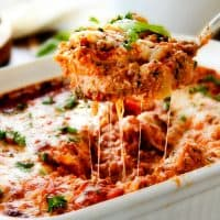 Hearty, comforting Ravioli Lasagna is what cheesy dreams are made of! Get ready to fall in love!