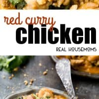 If you are looking for a meal that gives you a perfect blend of sweet and tangy with a slight hint of spice, then this Red Curry Chicken is for you!