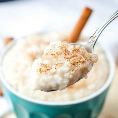 Creamy Rice Pudding is a quick and easy recipe that can be eaten hot or cold. It's a super comforting old-fashioned dessert I've loved since I was little!