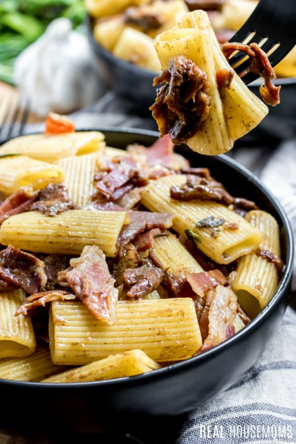 Rigatoni Pasta With Mushrooms And Prosciutto Real Housemoms