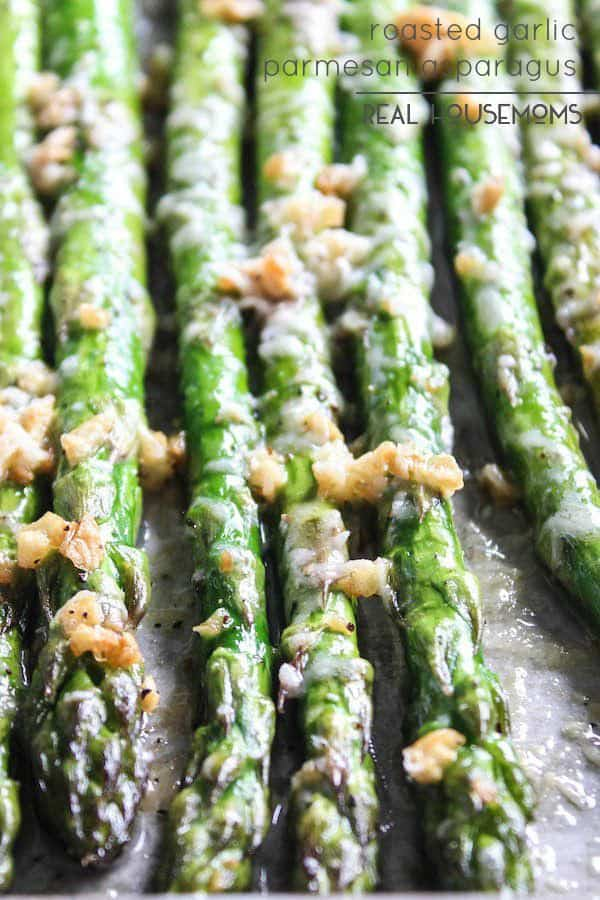 Roasted Parmesan Garlic Asparagus - Real Housemoms