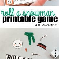 This Roll A Snowman Printable Game is perfect for classroom holiday parties, Christmas breakfasts with Santa, or any other winter occasion!