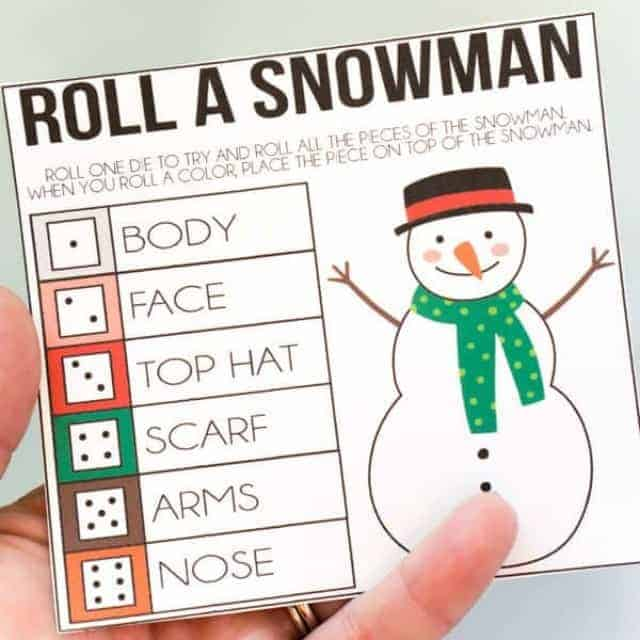 photograph about Build a Face Printable named Roll A Snowman Printable Activity ⋆ Genuine Housemoms