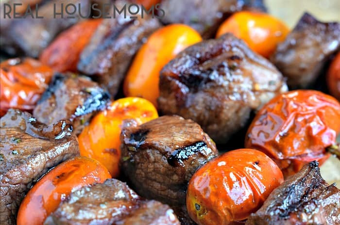 These ROSEMARY STEAK SKEWERS WITH BALSAMIC GLAZE are a simple grill recipe that tastes as good as it looks!